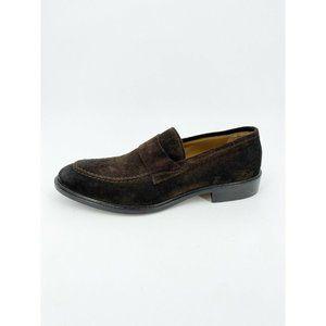 Gordon Rush Burton Loafer Shoes Suede Apron Toe